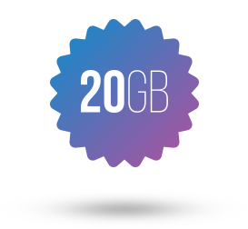 20GB disc space